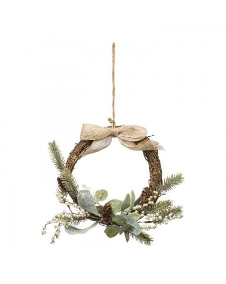 Wianek świąteczny z gałązek 36 cm