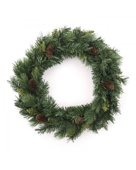 Wianek świąteczny z szyszkami 40 cm