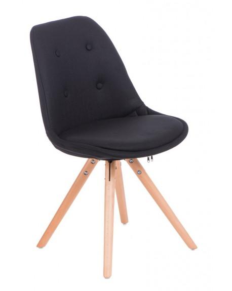 Krzesło Nord Star pikowane czarne