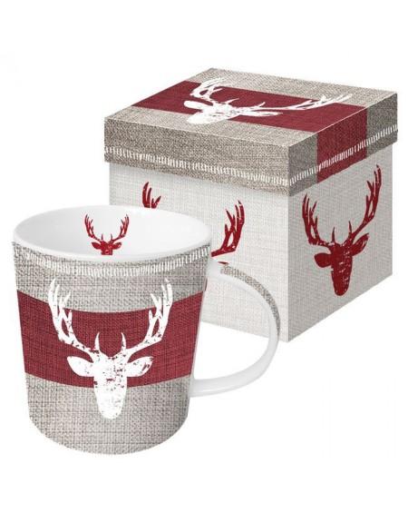 Kubek porcelanowy z jeleniem