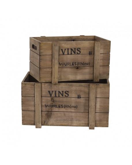 Skrzynka drewniana VINS mniejsza