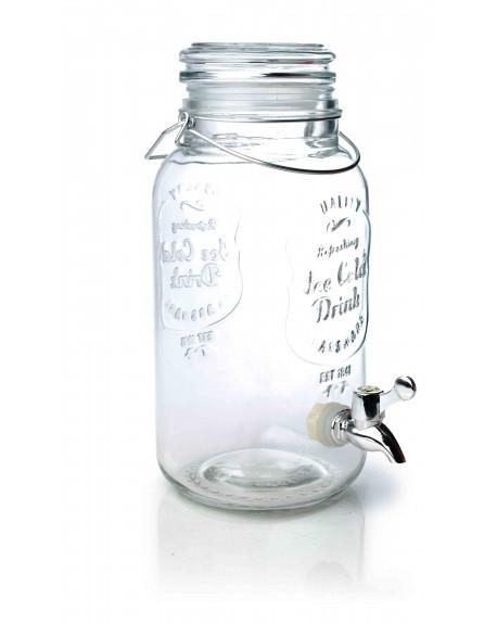 Słój szklany z kranikiem 4 L