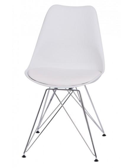 Krzesło Nord chrome białe