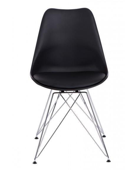 Krzesło Nord chrome czarne