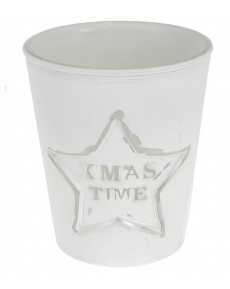 Świecznik XMAS biały