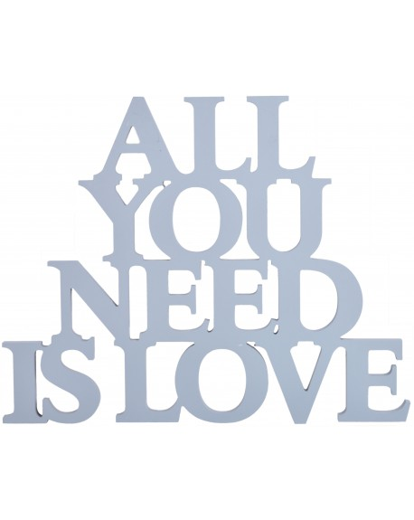 Napis ALL YOU NEED IS LOVE szary