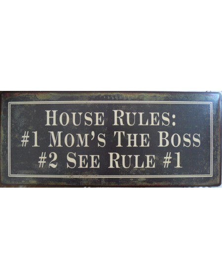 Szyld metalowy House Rules