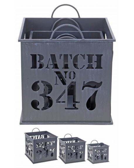 Kosze metalowe BATCH 3 szt.
