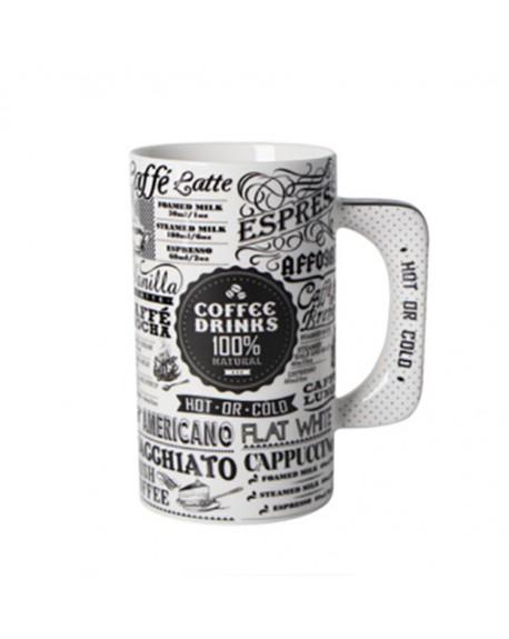Kubek porcelanowy XXL Coffee czarny