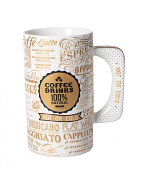 Kubek porcelanowy XXL Coffee złoty