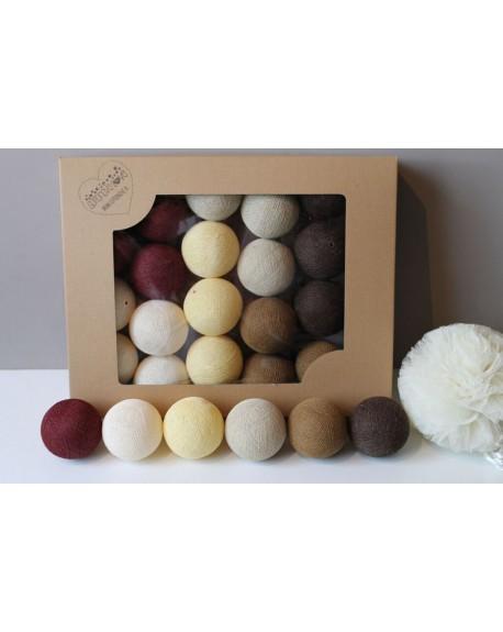 Cotton Balls Vine Beige 10 szt.