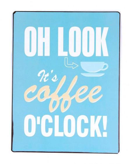 Szyld metalowy COFFEE O'CLOCK