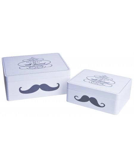 Pudełko Mustache kpl. 2 szt.