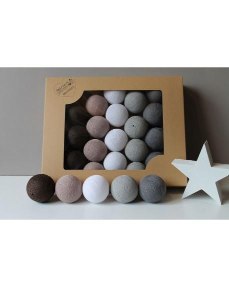 Cotton Balls Chestnut 35 szt.