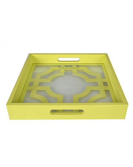 Taca z wzorem żółto-zielona