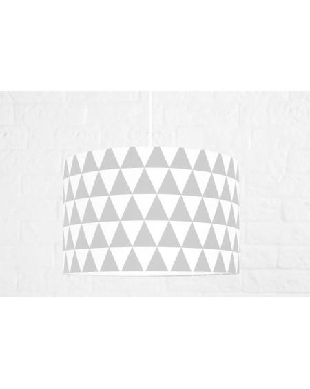 Lampa sufitowa trójkąty szare