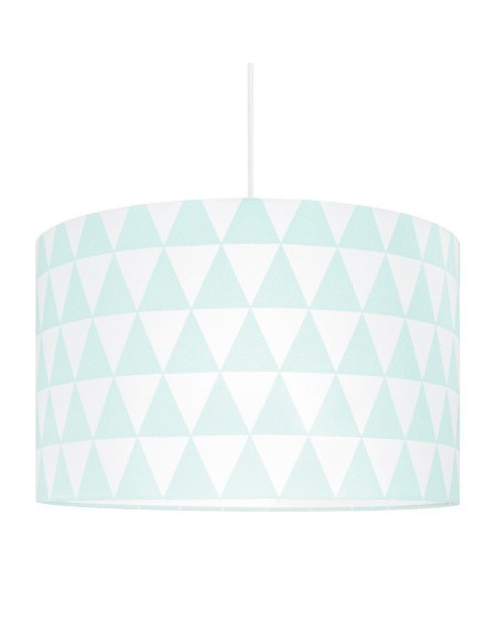 Lampa sufitowa trójkąty miętowe