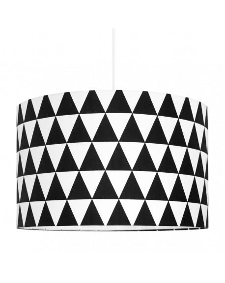 Lampa sufitowa trójkąty czarne