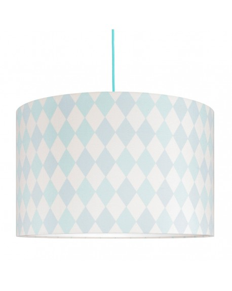 Lampa sufitowa romby miętowo-turkusowe