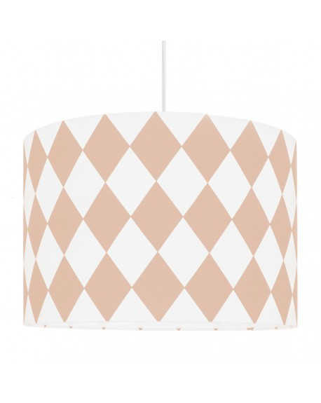 Lampa sufitowa romby beżowo-różowe