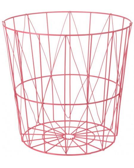 Koszyk metalowy różowy