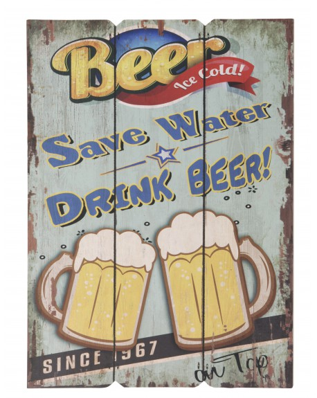 Szyld Save Water Drink Beer