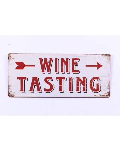 Szyld metalowy Wine Testing