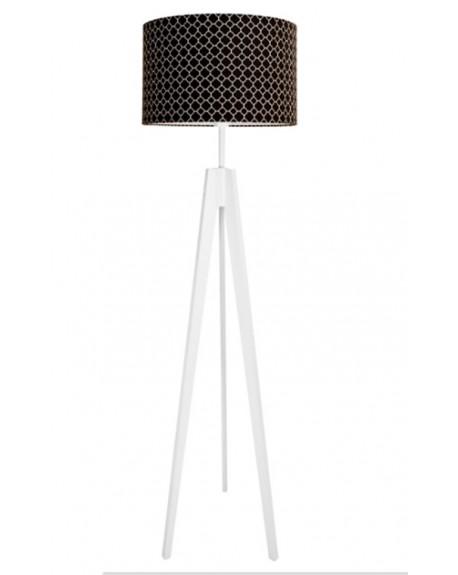 Lampa podłogowa koniczyna marokańska czarna