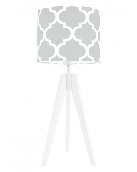 Lampa stołowa Koniczyna marokańska szara