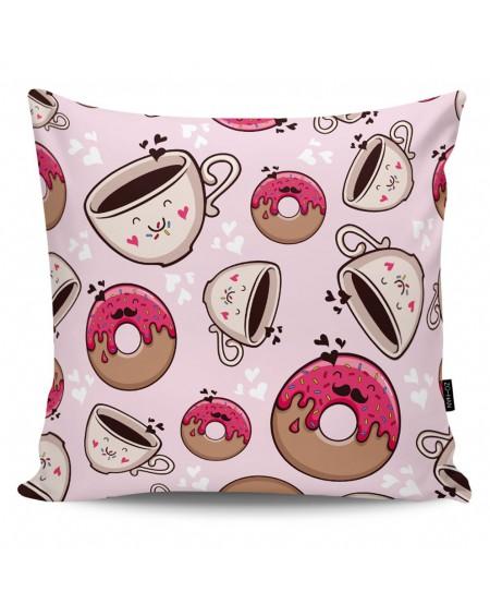 Poduszka dekoracyjna Good Morning pink