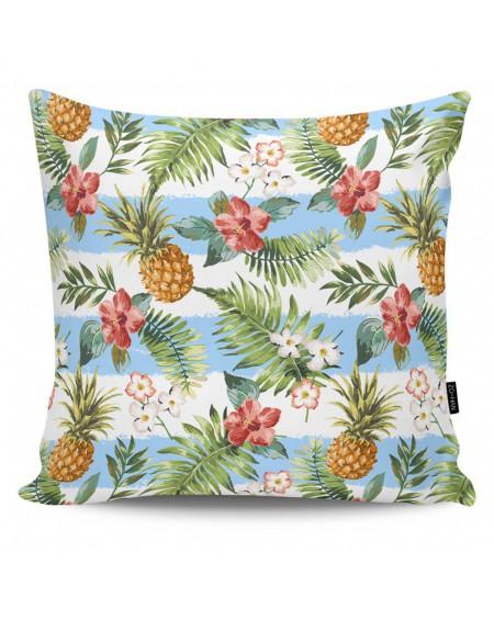 Poduszka dekoracyjna Striped Pineapples blue