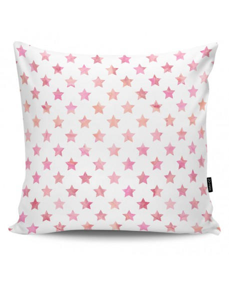 Poduszka dekoracyjna Stars pink