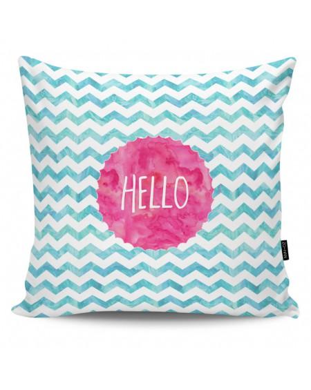 Poduszka dekoracyjna Hello pink