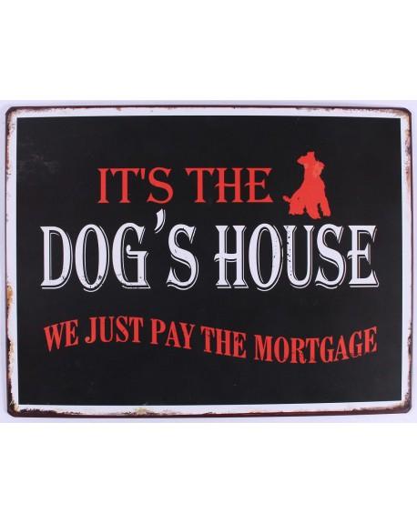 Szyld metalowy Dog's House