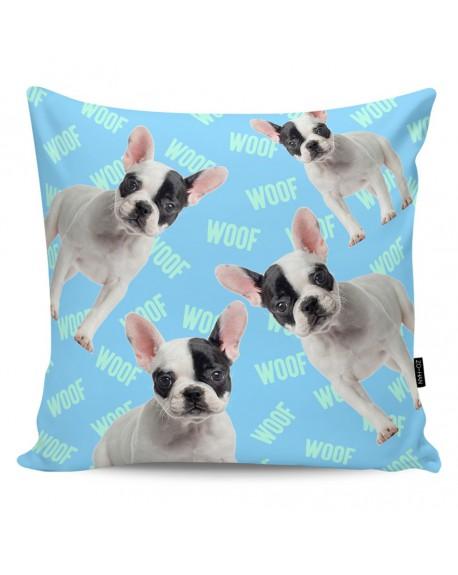Poduszka dekoracyjna Woof! blue