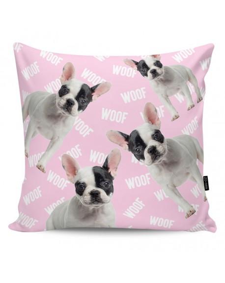Poduszka dekoracyjna Woof! pink