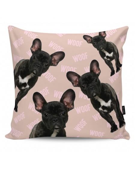 Poduszka dekoracyjna Woof! dark mocha