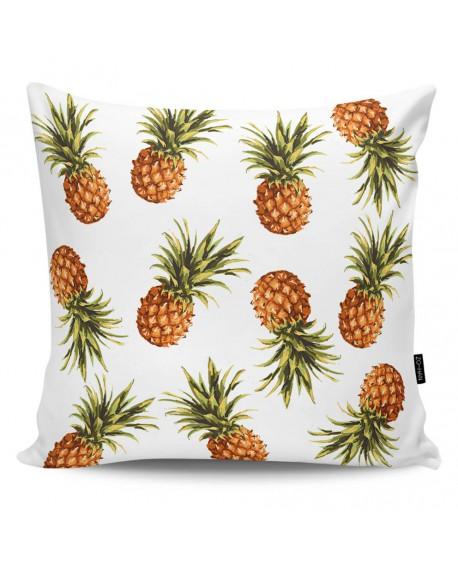 Poduszka dekoracyjna Pineapples white
