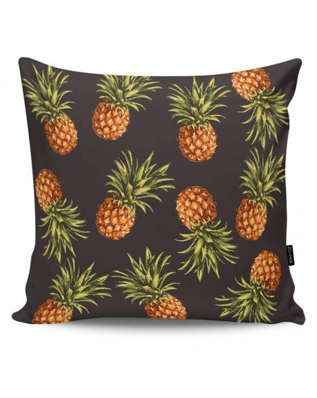 Poduszka dekoracyjna Pineapples black