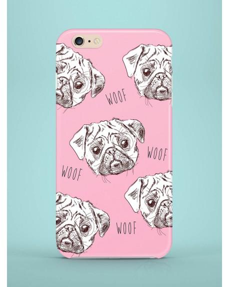Etui na telefon Pugs in pink