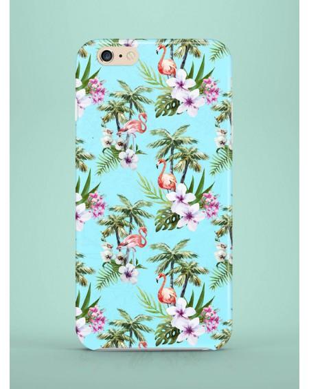 Etui na telefon Blue Exotic Flamingos