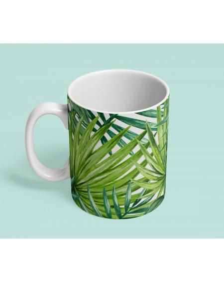 Kubek ceramiczny Palm Leaves III