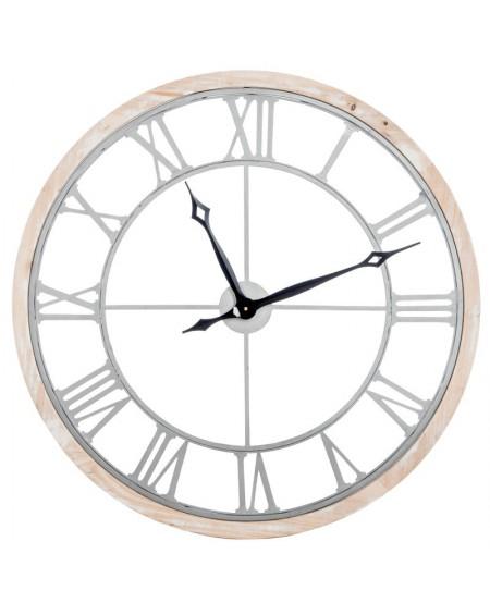 Zegar metalowo-drewniany