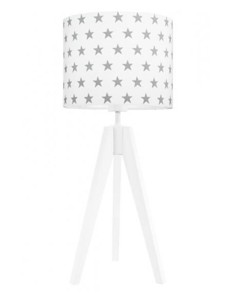 Lampa stołowa gwiazdki szare/biała