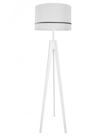 Lampa podłogowa porcelanowy szary