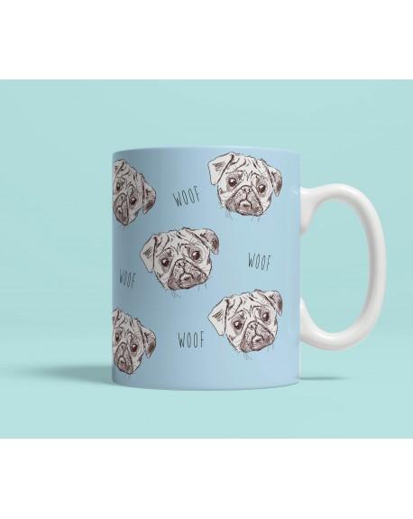 Kubek ceramiczny Woof niebieski