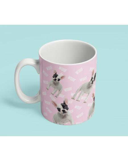 Kubek ceramiczny Woof różowy