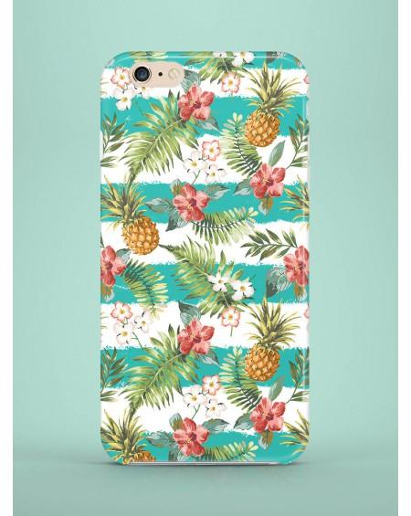 Etui ne telefon Cyan Striped Pineapples