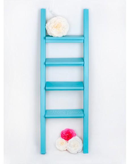 Drabina dekoracyjna Simple Turquoise small
