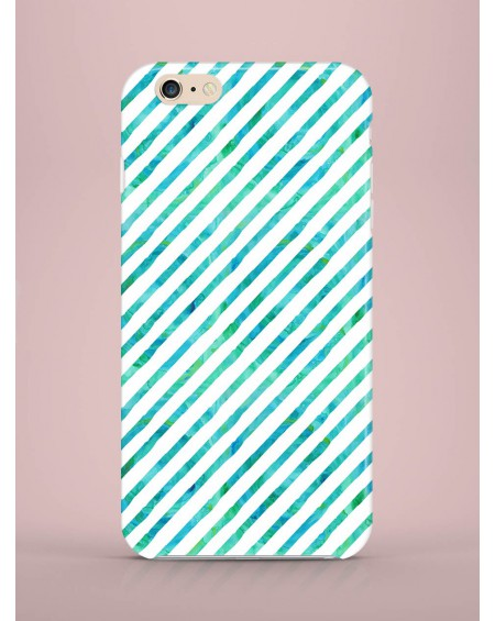 Etui na telefon Stripes green